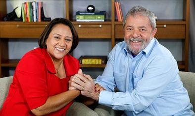 Fátima diz que cadeia é injusta, chama Lula de preso político e pede liberdade