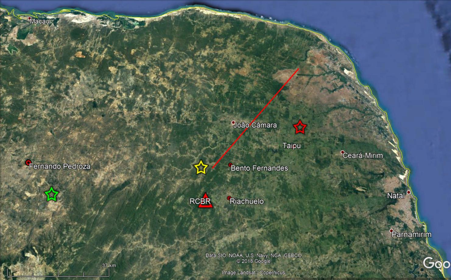 Cinco novos tremores de terra são registrados em três cidades do RN
