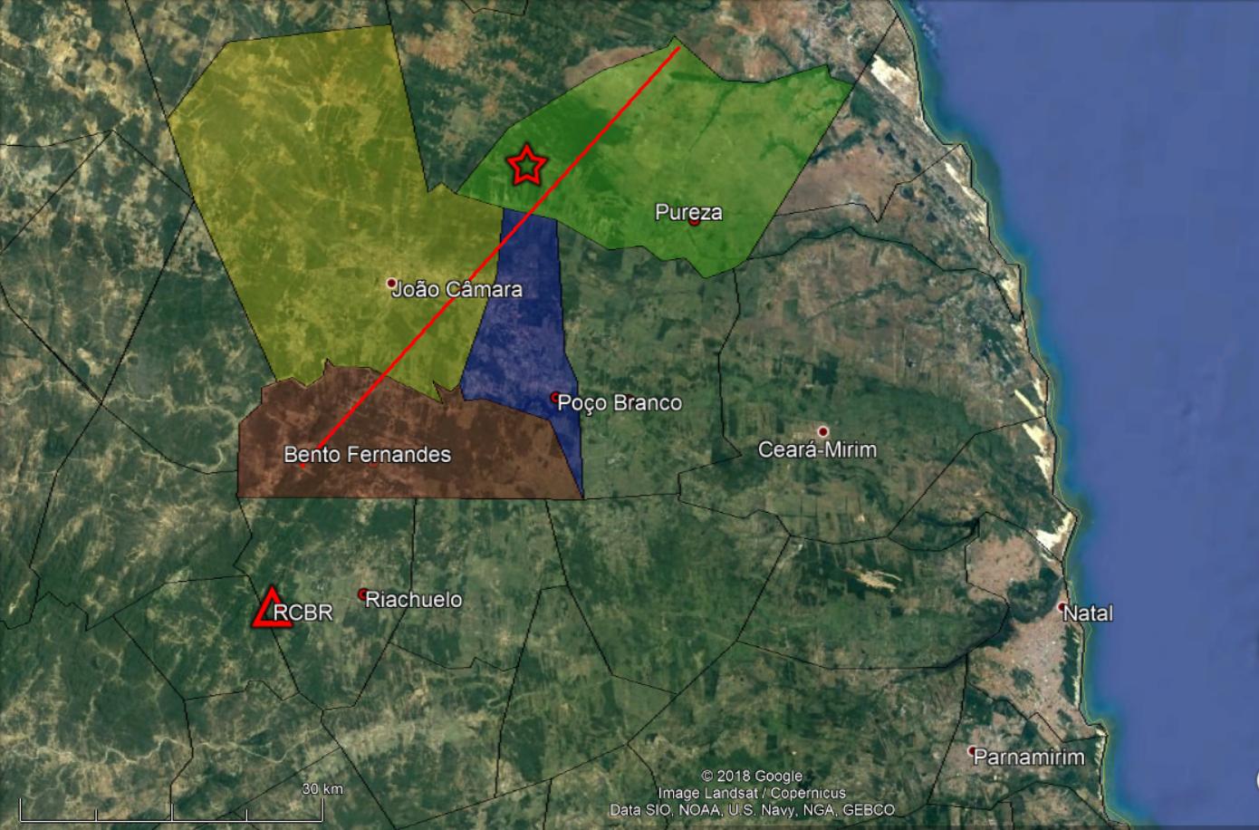 Domingo tem 5 terremotos no RN; maior no mesmo local de abalo histórico em 1989