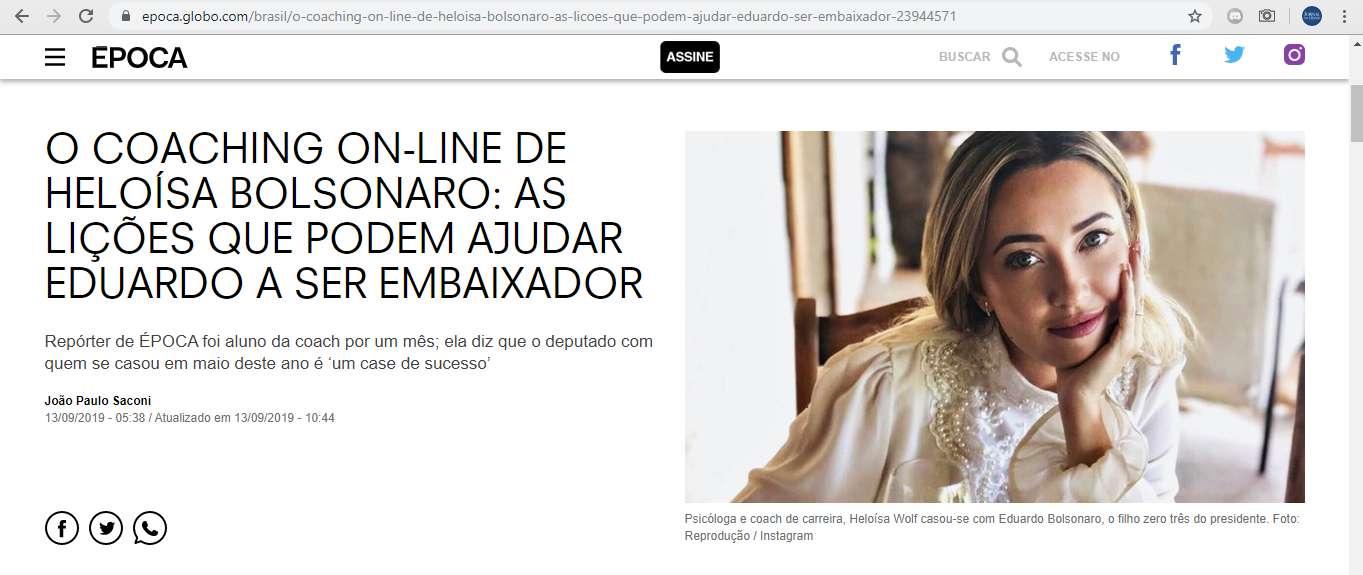 Grupo Globo admite erro e pede desculpas a nora de Bolsonaro após matéria
