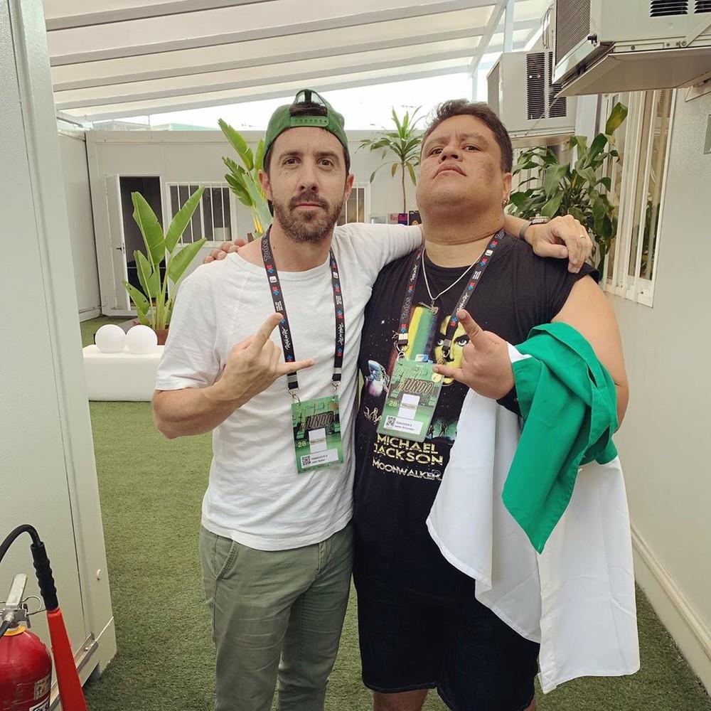 John Spiker, baixista do Tenacious D, elogia potiguar no Rock in Rio: 'Mestre'