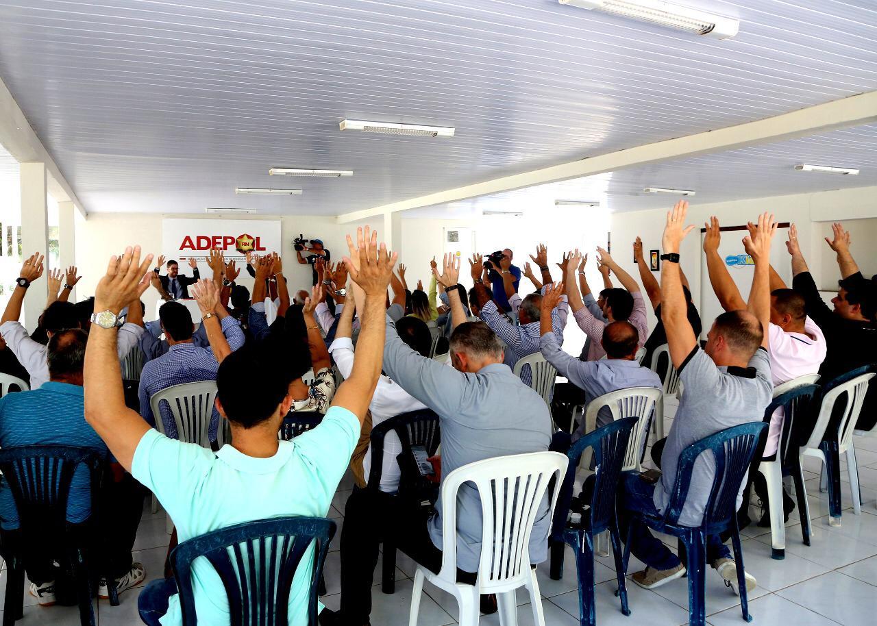 Delegados da Polícia Civil do RN realizam protesto nesta segunda-feira