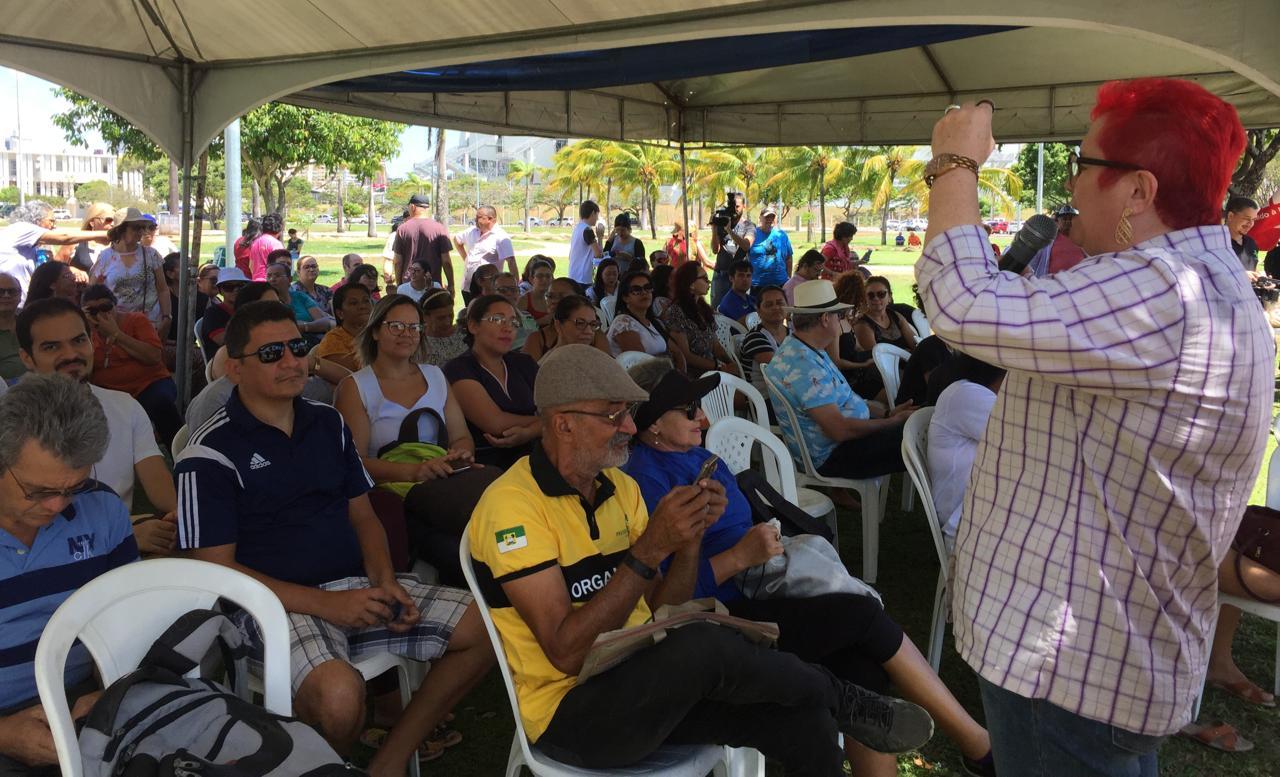 """""""Não aceitaremos reforma de Previdência"""" no RN, diz sindicato a Fátima"""
