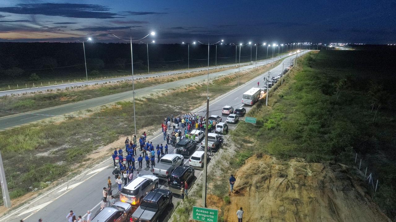 Iluminação do acesso sul ao Aeroporto Internacional de Natal é inaugurada