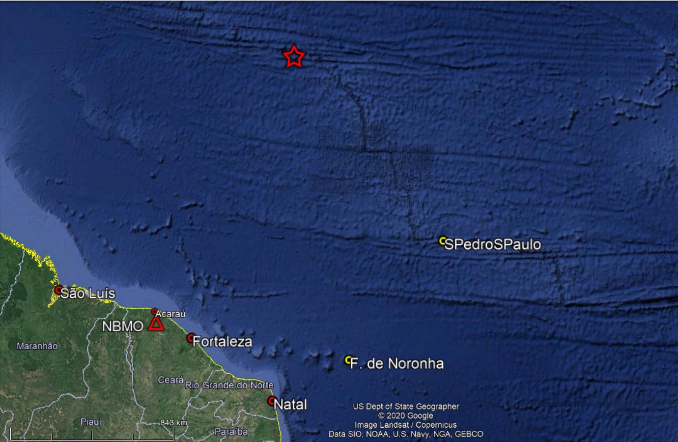 Novo tremor no Atlântico é registrado por laboratório da UFRN