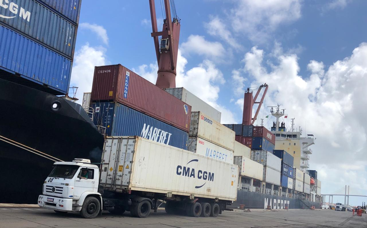 Exportações de fevereiro no RN caem mais de 50% em relação a 2019