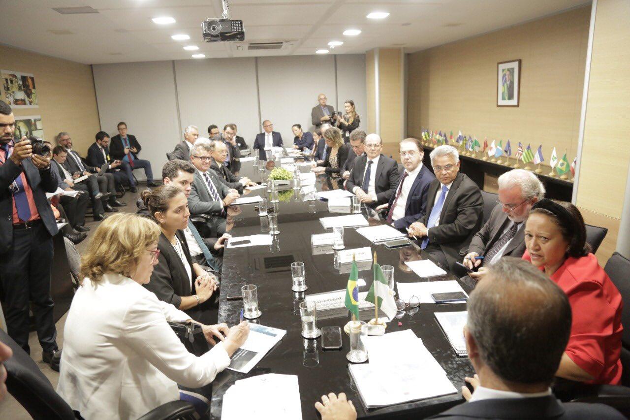 Fátima Bezerra: 'Audiência com Rogério Marinho foi muito positiva para o RN'
